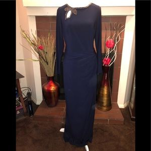 Ralph Lauren Bead Embellished Evening Gown Size 12